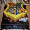 151 Tort z logo szkoły w Hogward Harry Potter