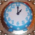 154 Tort niebieski zegar budzik na roczek dziecka