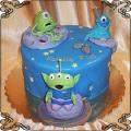 159 Tort z kosmitami ufo ludki na 7 urodziny