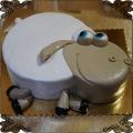165 Tort  owieczka baranek na boku 2D