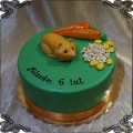 168 Tort chomik  rudy marchewka ziarno