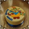 182 Tort z kotem głodny Benio na roczek na płasko, Hungry Henry cake