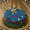 185 Tort Reksio pies  figurka z lukru bajka