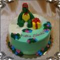 187 Tort z żółwiem Franklinem i prezentem na 3 urodziny