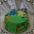 193 Tort Maks i Ruby króliki siostra i brat i marchewki
