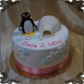 196 Tort z bajka pingwinek pingu Iglo lód Antarktyda