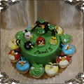 199 Tort Angry Birds muffinki cup cakes
