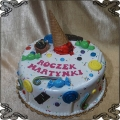 208 Tort na roczek gałka lodów  cukierki lizaki słodycze kolorowy