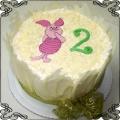 21 Tort dla dzieci z prosiaczkiem w białej czekoladzie Cukiernia Pod Arkadami Kraków