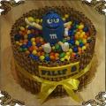 210 Tort Emenems niebieski cukierek m&m rurki waflowe lentylki