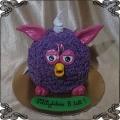 213 Tort Furby fioletowy 3d z lukru