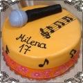 220 Tort mikrofon nutki pięciolinia dla  muzykalnej dziewczyny
