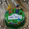 222 Tort Małe królestwo Bena i Holly 2 figurki z lukru
