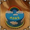 223 Tort tęcza chmurki dla dziecka rainbow cake