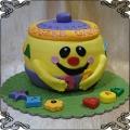 224 Tort w kształcie garnuszek na klocuszek dla dzieci  na roczek
