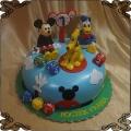 235 Tort myszka miki Kaczor Donald kostka do gry na roczek Pluto Disney