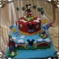 236 Tort myszka Miki Kaczor Donald pies Gufi  piętrowy Disney gwiazdki