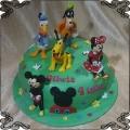 237 Tort Walt Disney Myszka Miki Minnie, Kaczor Donald pies Pluto i Gufi