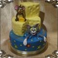 238 Tort Tom i Jerry mysz i kot oraz ser  piętrowy tort