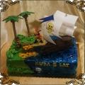 243 Tort wyspa skarbów Jack i Piraci z Nibylandii statek piracki skrzynia dukaty