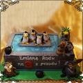 244 Tort  Pingwiny  z Madagaskaru , Król Julian , Mort, Wydra Marlenka , Maurice . Basen