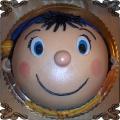 39 Tort Noddy w krainie zabawek tort z głowa