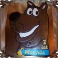 83 Tort Scooby Doo 2D brązowy piesek