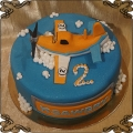 101 Tort samolot Dusty na 2 urodziny chmury