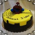 106 Tort spiderman figurka siedząca z lukru pajęczyna wieżowce cienie