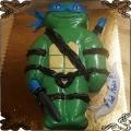 108 Tort wojownicze żółwie Ninja Leonardo 2D niebieska opaska