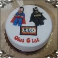 122 Tort lego Batman i supermen figurki na płasko dla dziecka