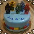 124 Tort Lego Ninjago 5 figurek wojowników ninja na 6 urodziny