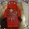 125 Tort lego Ninjago czerwony wojownik 2D