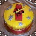 28 Tort czerwony wojownik Lego Niniago z gwiazdkami