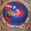 31 Tort piłka dla dziecka barwy Barcelony Cukiernia Pod Arkadami Kraków  Krakowskie Torty Artystyczne
