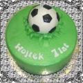 33 Tort dla dziecka piłka na  zielonej trawie Cukiernia Pod Arkadami Kraków  Krakowskie Torty Artystyczne