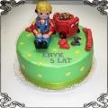 42 Tort dla dziecka  Bob Budowniczy z betoniarka ang. Bob the Builder cake