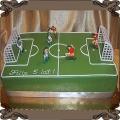 44 Tort boisko piłkarskie dla dzieci z piłkarzami i bramkami