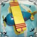 50 Tort samolot dwupłatowy  niebieski przestrzenny dla dziecka Krakowskie Torty Artystyczne