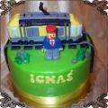 54 Tort lego pociąg na torach z maszynistą dla Ignaśia