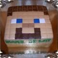 61  Tort kwadratowa  Głowa Stevea z gry Minecraft