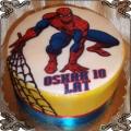 64 Tort Spiderman z pajęczyną z czekolady