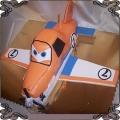 71 Tort samolot Dusty 3D przestrzenny na 7 urodziny chłopca