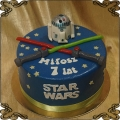92 Tort star wars r2d2 droid i miecze świetlne robot gwiezdne wojny