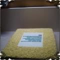 44 Tort firmowy posypka z białej czekolady logo fototort na opłatku duży