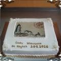 48 Tort śluby wieczyste fototort w lukrze dla dominikanów kraków  bracia