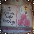 26 Tort księga komunijna z różami i krzyżykiem Cukiernia Pod Arkadami Kraków