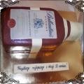 107 Tort butelka Whisky Ballantines Finest dla koneserów