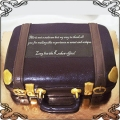 110 Tort walizka złote wykończenia  suitcase cake