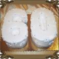 120 Tort w kształcie cyfry sześćdziesiąt na 60 urodziny